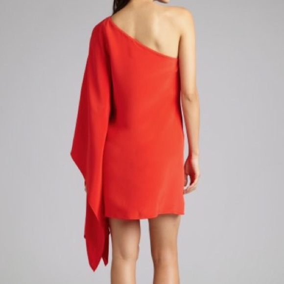 e2411e56b3a Jay Godfrey One Shoulder Red Dress-Small